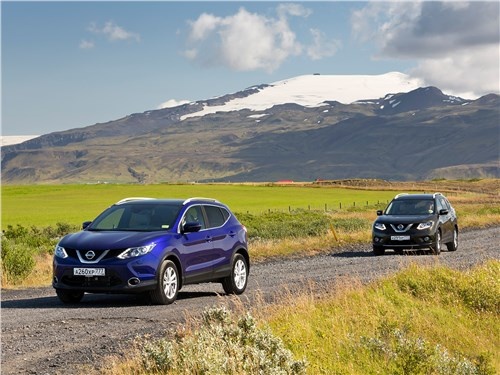 Nissan Qashqai и X-Trail вид спереди