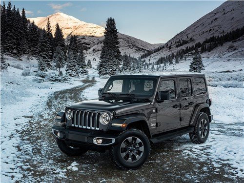 Jeep Wrangler Unlimited 2018 вид спереди