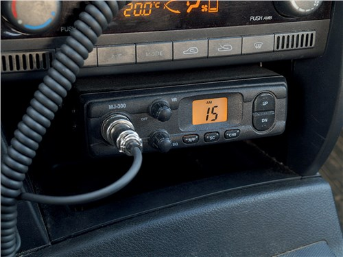 СВ-радиостанция MegaJet MJ-300, установленная на легковом автомобиле