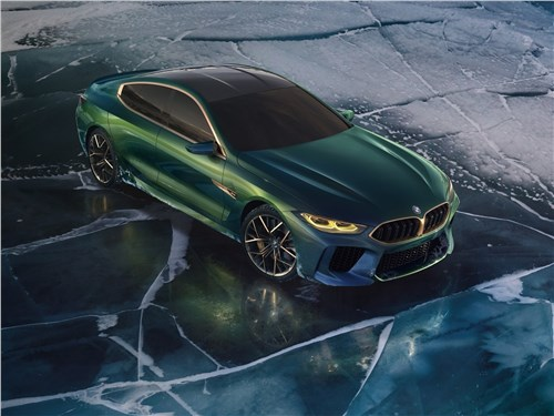 Предпросмотр bmw m8 gran coupe concept 2018 вид спереди сверху