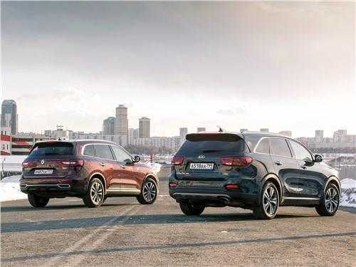 KIA Sorento Prime и Renault Koleos вид сзади