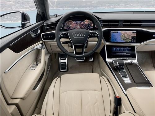 Audi A7 и Mercedes-Benz CLS: победа формы над содержанием A7 - Audi A7 Sportback 2018 салон