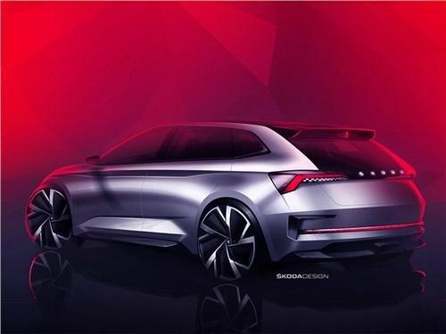 Новость про Skoda - Skoda Vision RS концепт 2018