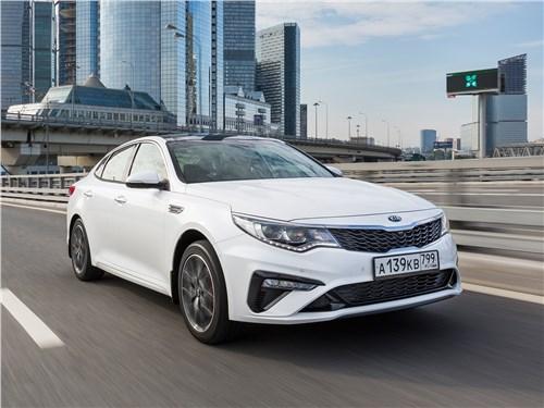 KIA Optima GT Line проверяет на прочность вернувшегося в Россию Subaru Legacy Optima - KIA Optima 2019: вид спереди