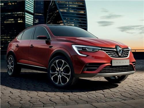 Как зажигают звезды Arkana - Renault Arkana Concept 2018 вид спереди сбоку