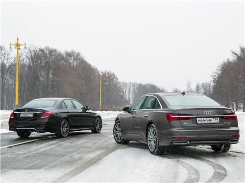 Audi A6 2019 и Mercedes-Benz E-Class 2019 вид сзади