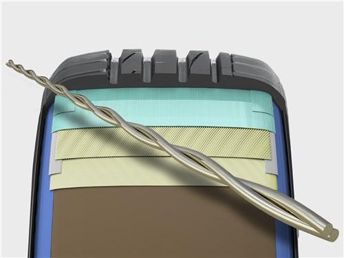 Брекер из витой проволоки не только поддерживает форму шины при маневрах на высокой скорости, но и сохраняет ее прочность на плохом асфальте