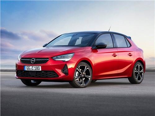 Европейский подход (Citroen C2, Citroen C3, Fiat Grande Punto, Ford Fiesta, Hyundai Getz, Nissan Micra, Opel Corsa, Seat Ibiza, Skoda Fabia, Volkswagen Polo) Corsa - Opel Corsa 2020 вид спереди сбоку
