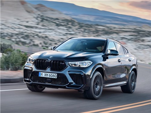 BMW X6 M 2020 вид спереди