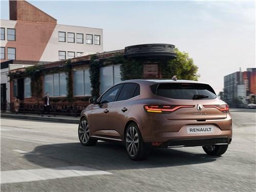 Бестселлеры (Nissan Tiida, Peugeot 308, Renault Megane, Seat Leon, Subaru Impreza, Toyota Auris) Megane - Renault Megane 2020 вид сзади