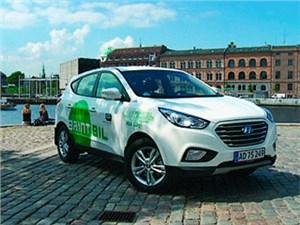 Первые серийные водородные кроссоверы Hyundai ix35 приехали в Данию