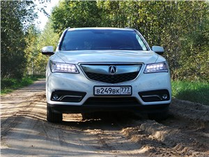 Предпросмотр acura mdx 2014 вид спереди на грунтовой дороге