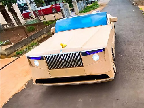 Новость про Rolls-Royce - Rolls-Royce Boat Tail построили из картона