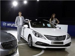 Hyundai Grandeur - Hyunday Grandeur 2014 вид спереди
