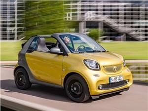 Предпросмотр smart fortwo cabrio 2016 вид спереди сбоку