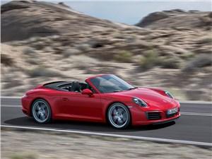 Предпросмотр porsche 911 carrera cabriolet 2016 вид спереди сбоку