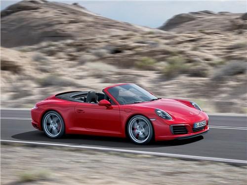 Предпросмотр porsche 911 carrera s cabrio 2016 вид сбоку