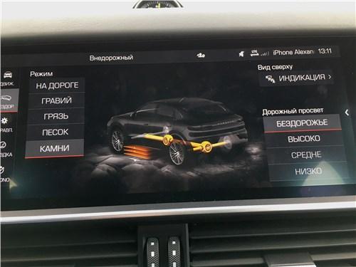Предпросмотр porsche cayenne turbo s e-hybrid coupe 2020 монитор