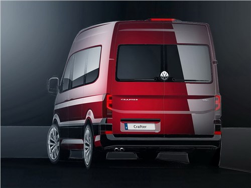 Предпросмотр volkswagen crafter concept 2016 вид сзади