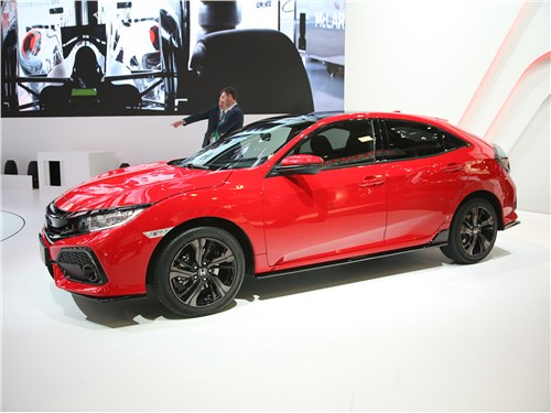 Ракеты для мегаполисов (Mini CooperS, Audi A3, Citroen C4 VTS, Honda Civic, Subaru Impreza WRX, Subaru Impreza WRX Sti, Mitsubishi Lancer Evolution) Civic - Honda Civic 2017 вид сбоку