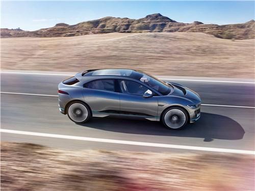 Jaguar I-Pace Concept 2016 вид сбоку сверху