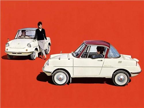 Рекламный постер одного из первенцев марки – автомобиля Mazda R 360