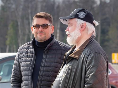 Олег Виноградов (учредитель премии «ТОП-5 АВТО») и Игорь Чер-ский
