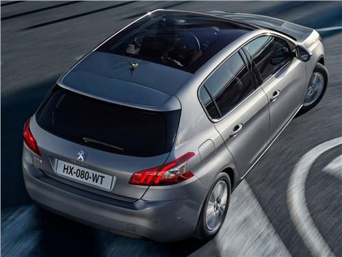 Peugeot 308 2018 вид сверху