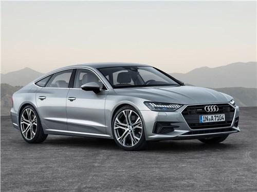 Audi A7 - Audi A7 Sportback 2018 вид спереди