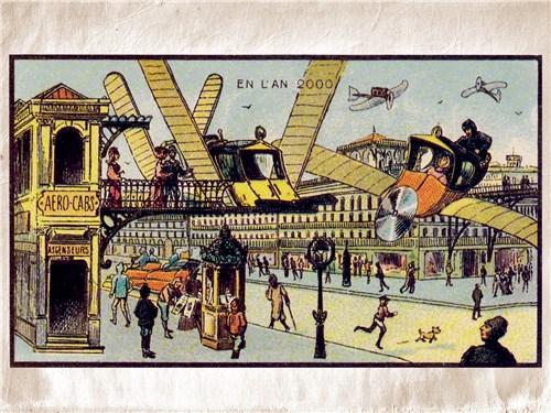 Именно так представляли себе города будущего художники начала ХХ века