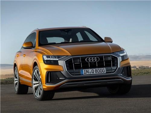 Audi Q8 2019 вид спереди