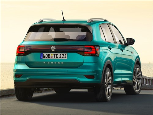 Volkswagen T-Cross 2019 вид сзади