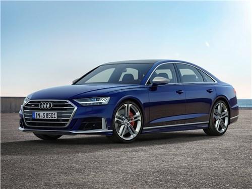 Короли скорости (Audi S8, Bentley Arnage T, Maserati Quattroporte Sport GT, Maybach 57S, Mercedes-Benz S63 AMG, Mercedes-Benz S65 AMG) S8 - Audi S8 2020 вид спереди сбоку