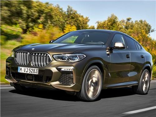 BMW X6 M50i 2020 вид спереди