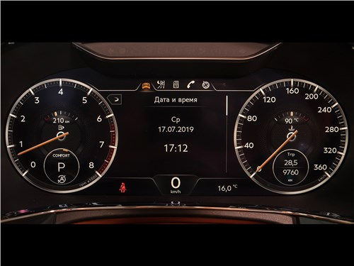 Истеблишмент (Audi A8 W12, Bentley Continental Flying Spur, BMW 760 Li, Maybach 62, Mercedes-Benz S600L, Rolls Royce Phantom Extended Wheelbase, Volkswagen Phaeton) Continental GT - Bentley Continental GT 2018 приборная панель
