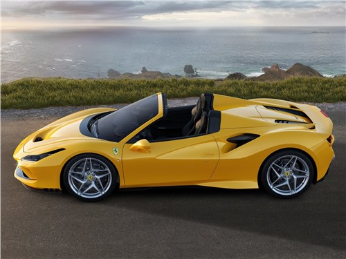 Ferrari F8 Spider 2020 вид сбоку