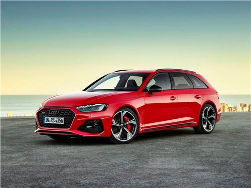 Audi RS4 Avant 2020 вид спереди сбоку