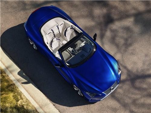 Lexus LC - Lexus LC 500 Convertible 2021 вид сверху