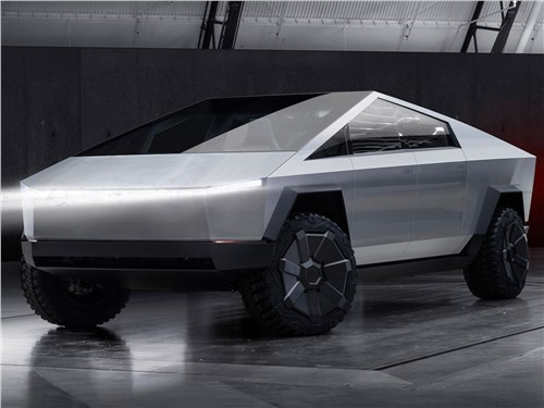 Предпросмотр tesla cybertruck 2022 вид спереди