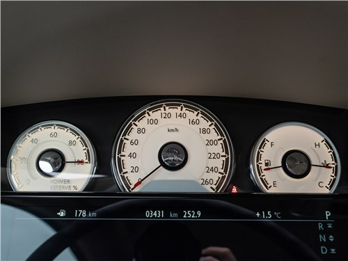 Rolls-Royce Wraith 2014 приборная панель
