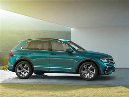 Попробуй, догони! Tiguan - Volkswagen Tiguan (2021) вид сбоку