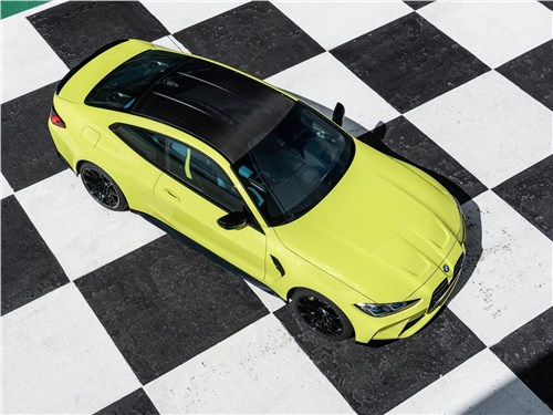 BMW M4 Coupe Competition (2021) вид сверху