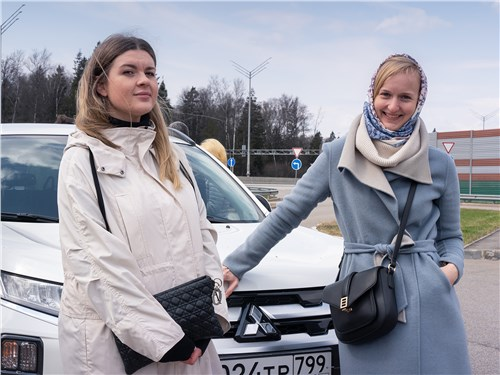 Наталья Костенок (Lada) и Людмила Григорьева (Mitsubishi)