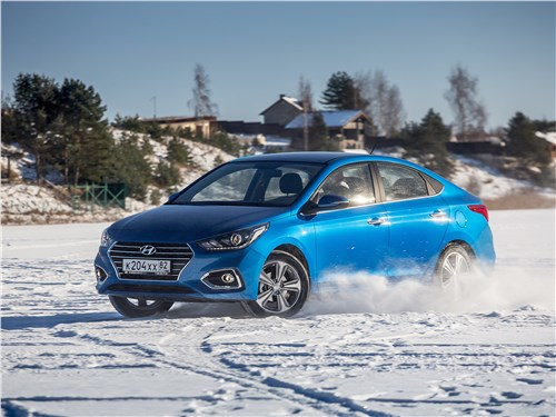 Hyundai Solaris 2017 на льду