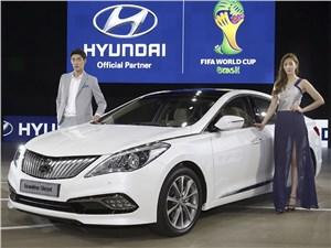 Hyundai Grandeur - Hyunday Grandeur 2014 вид спереди сбоку