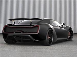 Предпросмотр trion supercars nemesis 2015 вид сзади черный