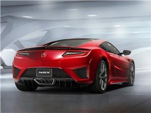 Acura NSX 2015 вид сзади сбоку