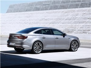 Renault Talisman 2016 вид сбоку сзади