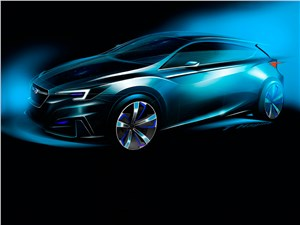 Предпросмотр subaru impreza 5-door concept 2015 вид спереди эскиз