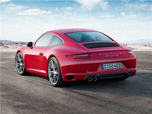Предпросмотр porsche 911 carrera s 2016 вид сзади